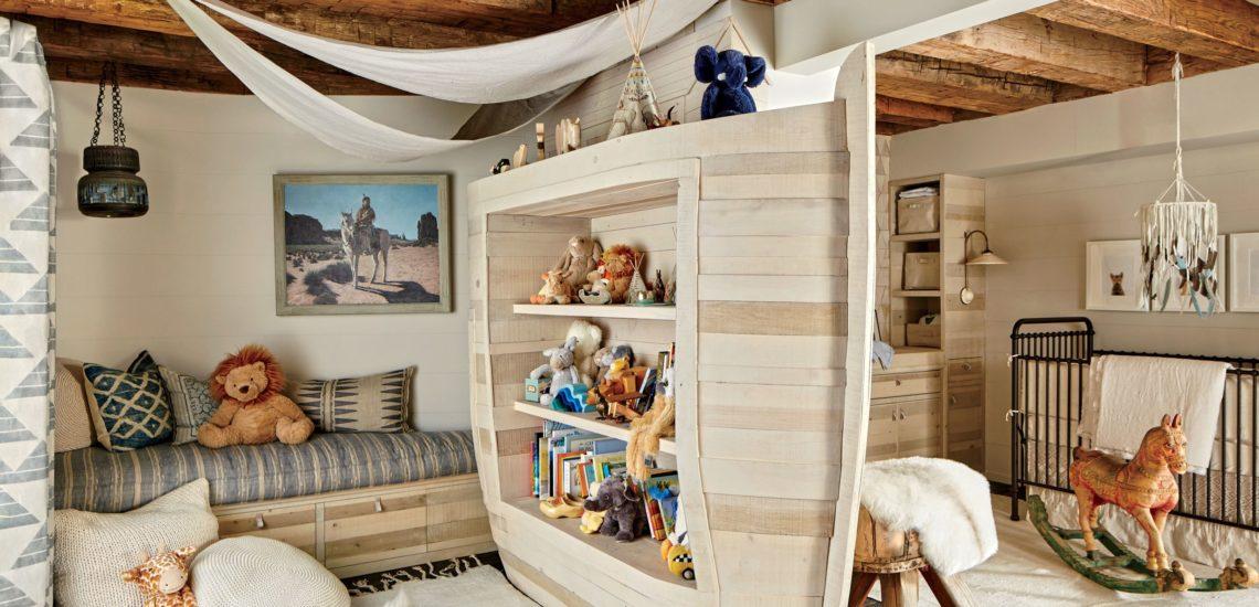 детская комната в эко стиле