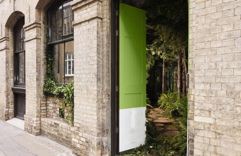 крыльцо лондонского дома-леса