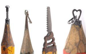 карандашные скульптуры