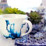 Кляксы от чернил — оригинальный декор для вашей посуды