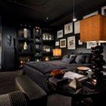 Как черный цвет меняет комнату