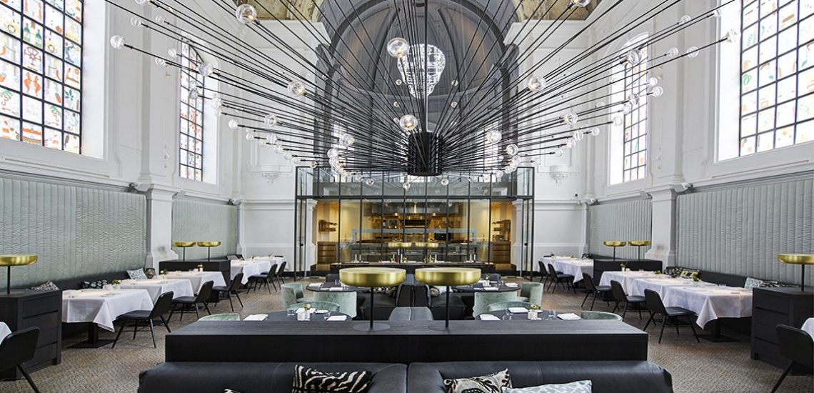 необычный дизайн ресторана