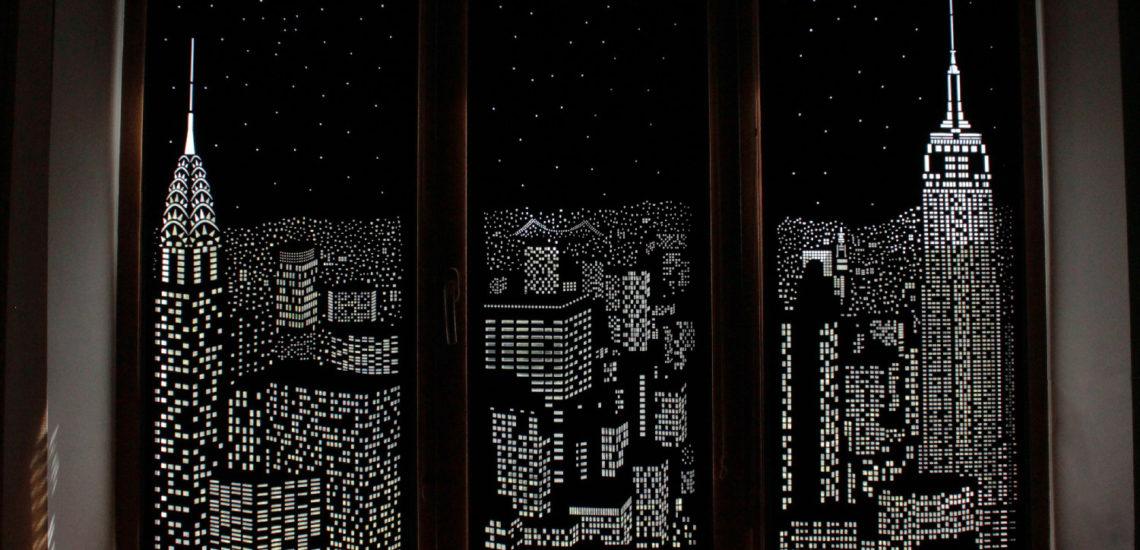 шторы с городским пейзажем