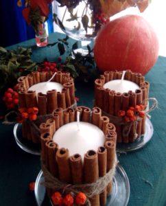 свечи декор новогодний стол
