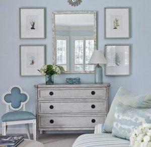 Голубой цвет — самый комфортный оттенок для спальни