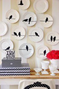 декоративные тарелки в интерьере