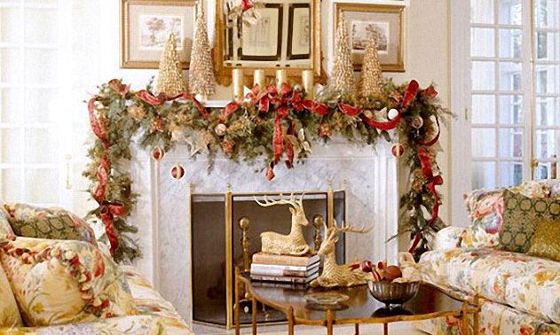 новый год украшение дома