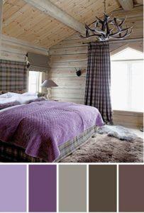 коричневый с фиолетовым