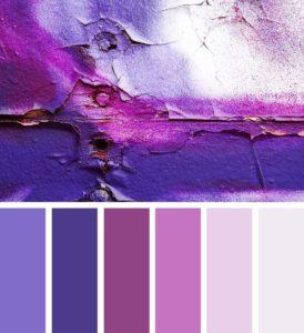 палитра фиолетовый розовый