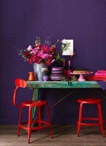 фиолетовый с красным
