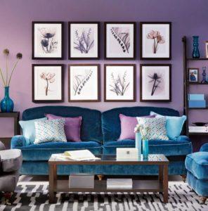 сочетание оттенков фиолетовый
