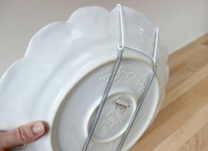 как прикрепить тарелку