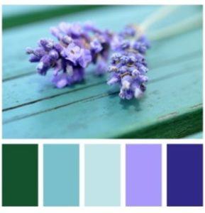 фиолетовый, сочетание в палитре