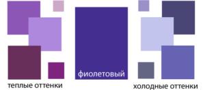 фиолетовый теплые и холодные оттенки