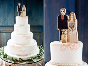 свадебный торт с собакой