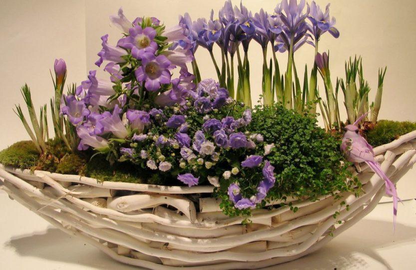 декор первоцветы