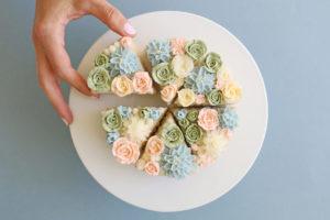 необычный торт суккуленты