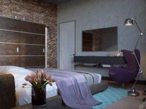 бетон в интерьере