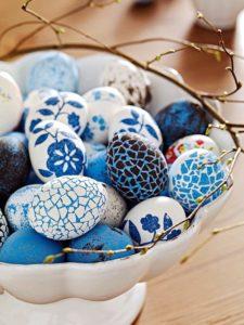 оригинальный способ декорирования пасхальных яиц