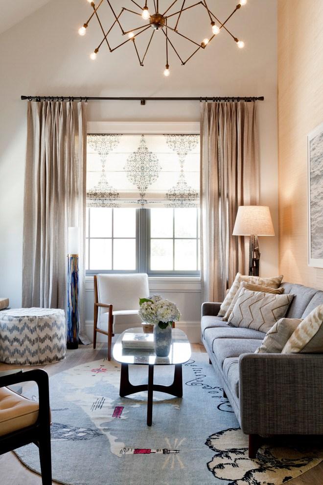 рулонные шторы, варианты оформления окна