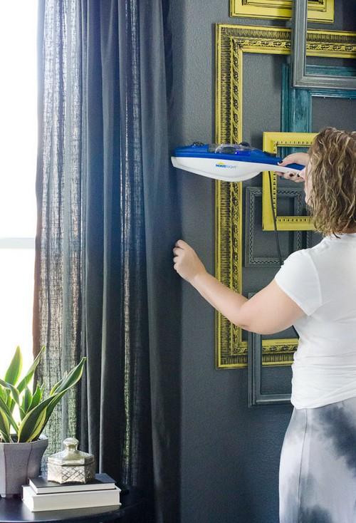 как отпаривать шторы