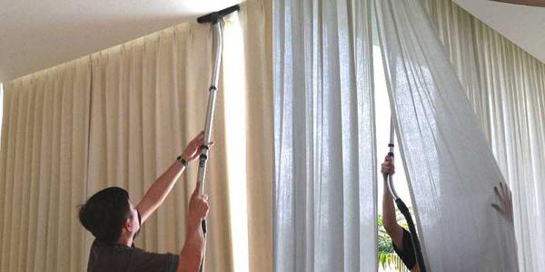 как пропылесосить шторы