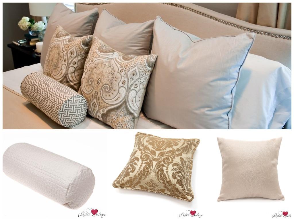 купить декоративные подушки бежевые