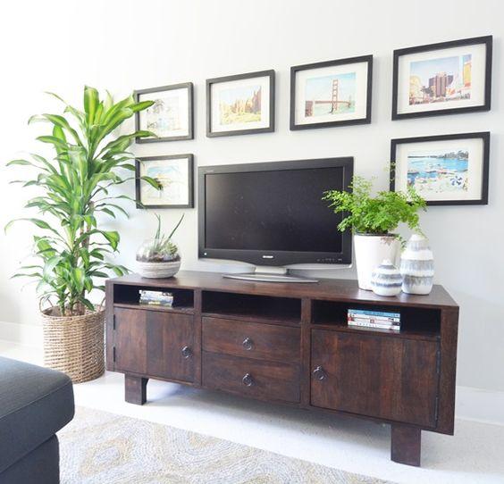декор вокруг телевизора