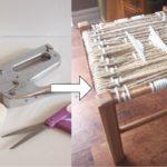 Модный стульчик с плетеным сидением
