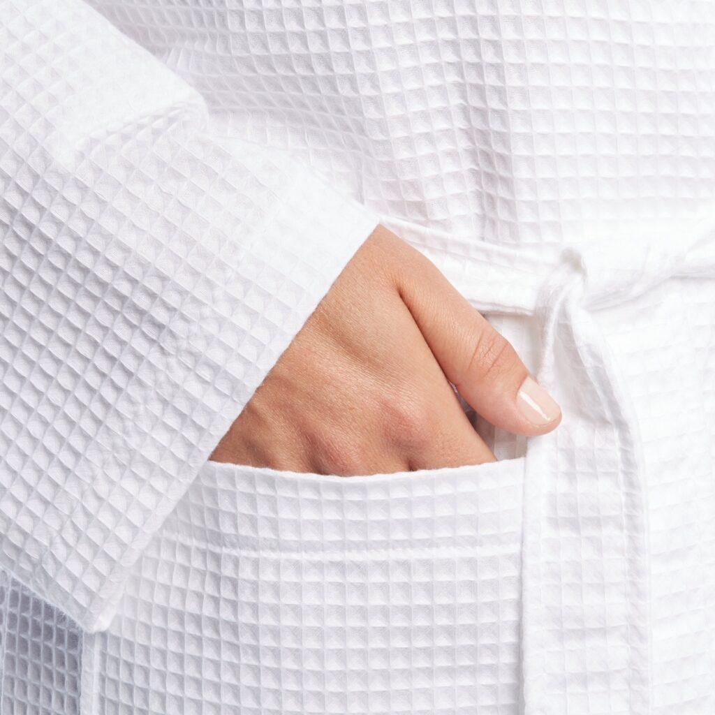 Банный халат из вафельной ткани