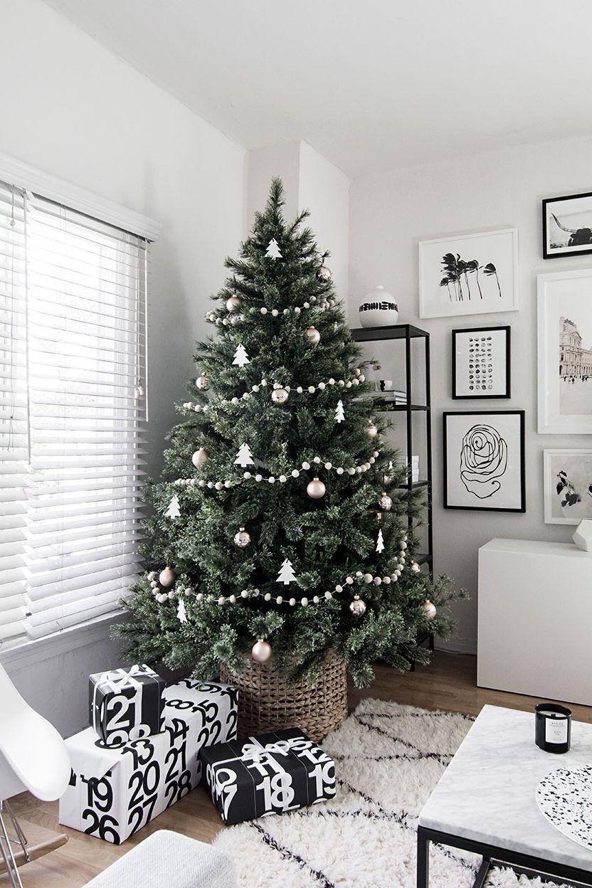 Новогодняя елка в скандинавском стиле