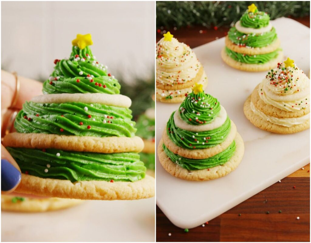 Рождественское печенье с глазурью или кремом
