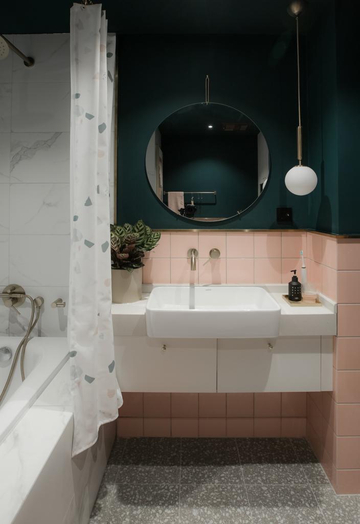 Ванная комната в стиле кубизм