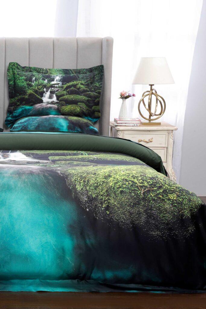 Постельное белье с изображением водопада