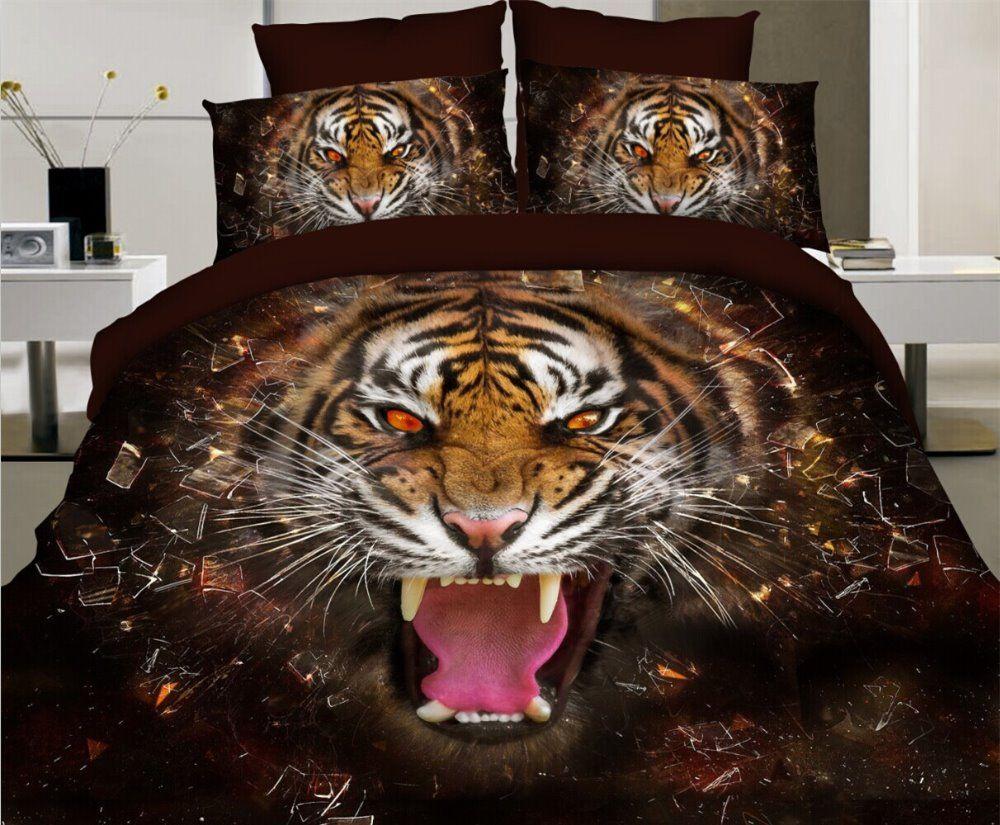 постельное белье с изображением тигра
