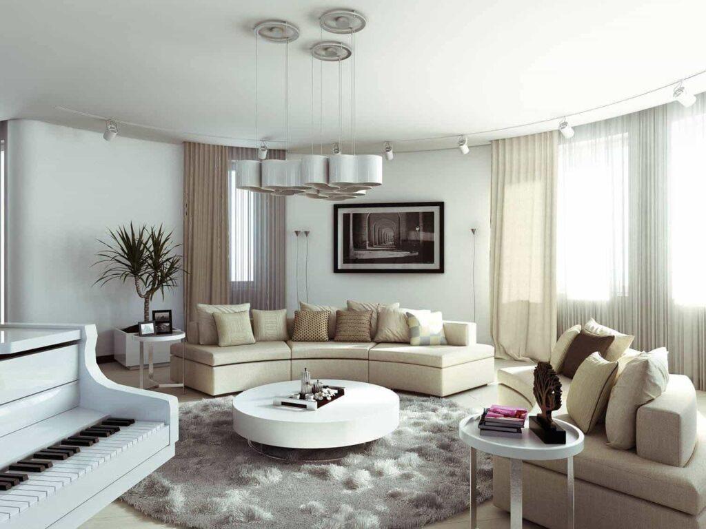 Выбор мебели для круглой комнаты