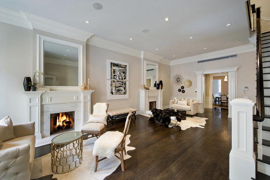 Дизайн большой комнаты — размер мебели