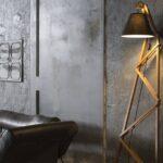 Оригинальная напольная лампа своими руками