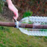 Необычная метла для дачи из пластиковых бутылок