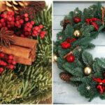 Венок из настоящей елки на Новый год своими руками! Или как создать уют с минимумом вложений