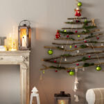 Елочка из палочек: настенная новогодняя елка своими руками за час