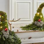 Вместо елки на Новый год у меня будут новогодние гномы из елочных веток. Классно и необычно!