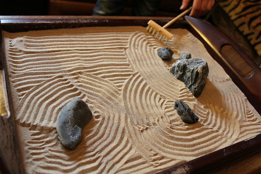японский мини сад камней