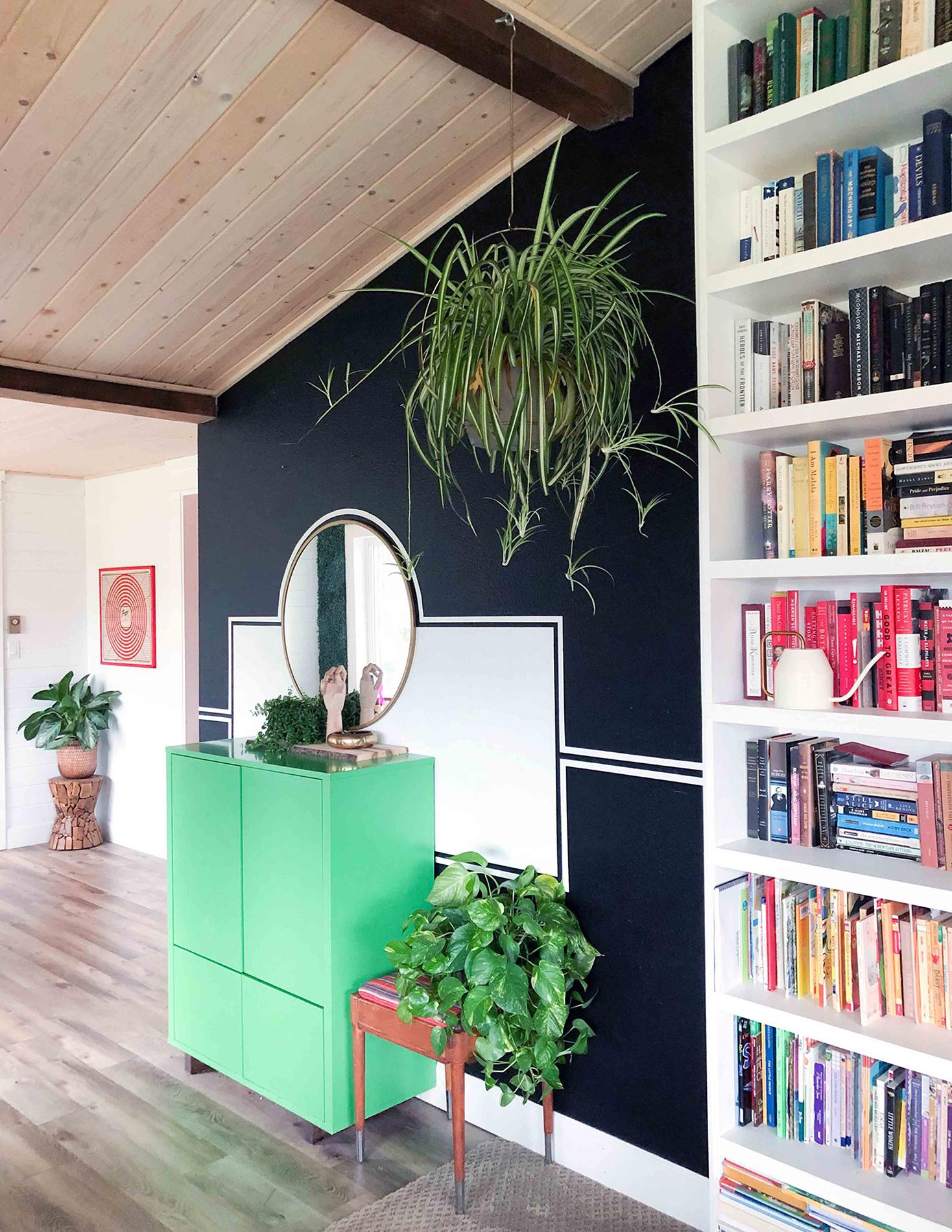 Нарисованный интерьер - открытая гостиная