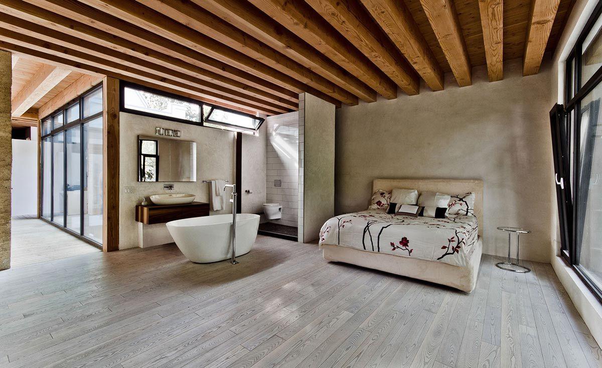 Спальня и ванная: одно пространство на двоих