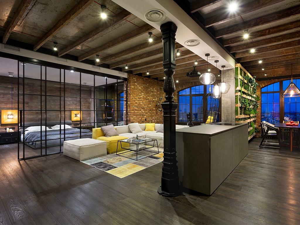 колонны в интерьере, декоративные колонны, колонна в квартире