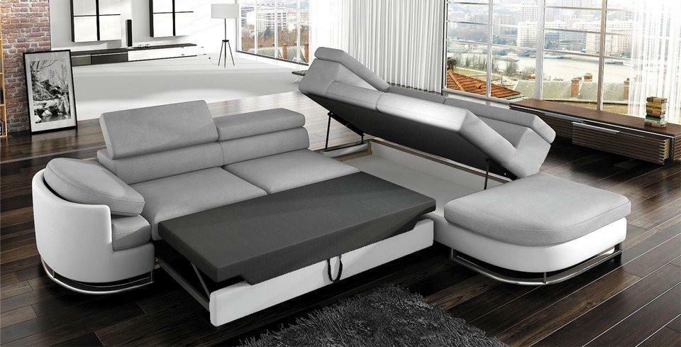 серый диван-уголок
