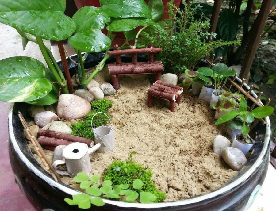 мини японский сад камней
