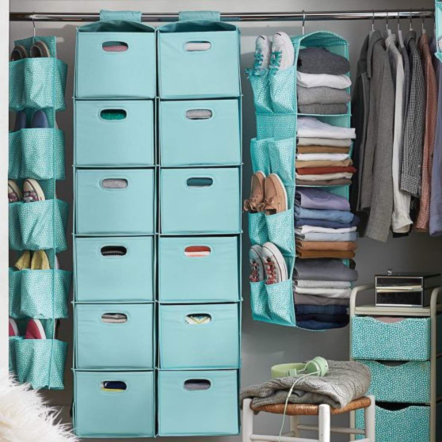 хранение вещей в шкафу в органайзере