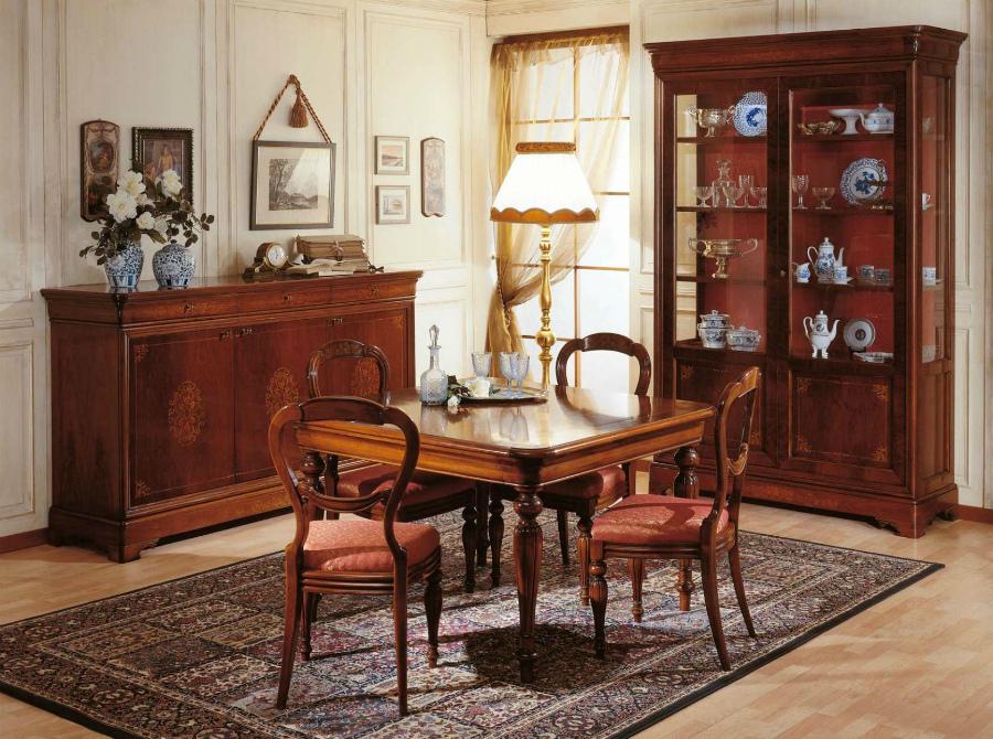 интерьер столовой во французском стиле